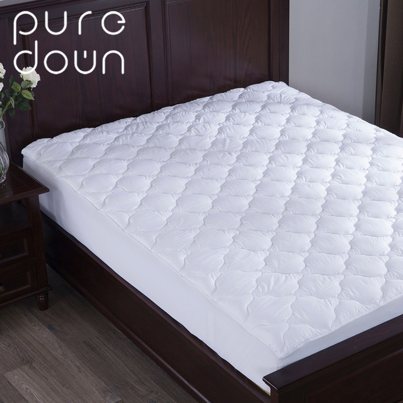 Puredown Hotel Home Bedding Protector Down Alternative Mattress Pad/Topper-Quilted-100% Cotton Top Four-leaf Clovers Pattern