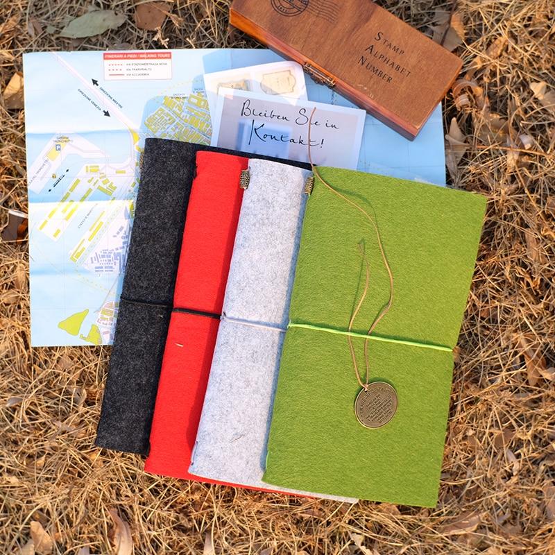 Felt Fabric Traveller's Notebook DIY ауыстырылатын - Блокноттар мен жазу кітапшалары - фото 3