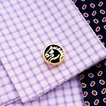 2019 KFLK Luxury shirt cufflinks for mens Gifts Brand cuff button Animal cuff link Gold High Quality Horse abotoaduras Jewelry