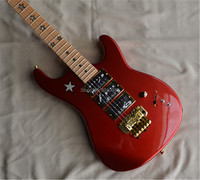 Electric guitar,new Floyd Rose guitar,RED color,GOLD HARDWARE,ST guitar, Five Star Inlay