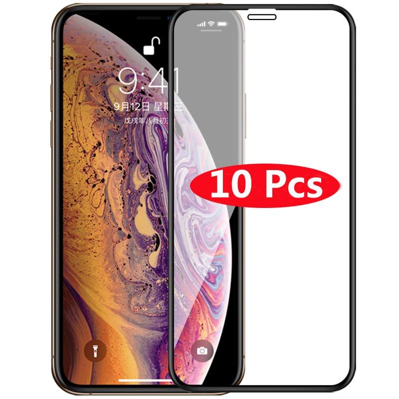 10Pcs 강화 유리 아이폰 Xr Xs 맥스 X 5 5S 6 6S 플러스 7 8 플러스 스크린 프로텍터 아이폰 Xr Xs 맥스 X 5 5S 6 6S 7 8 플러스