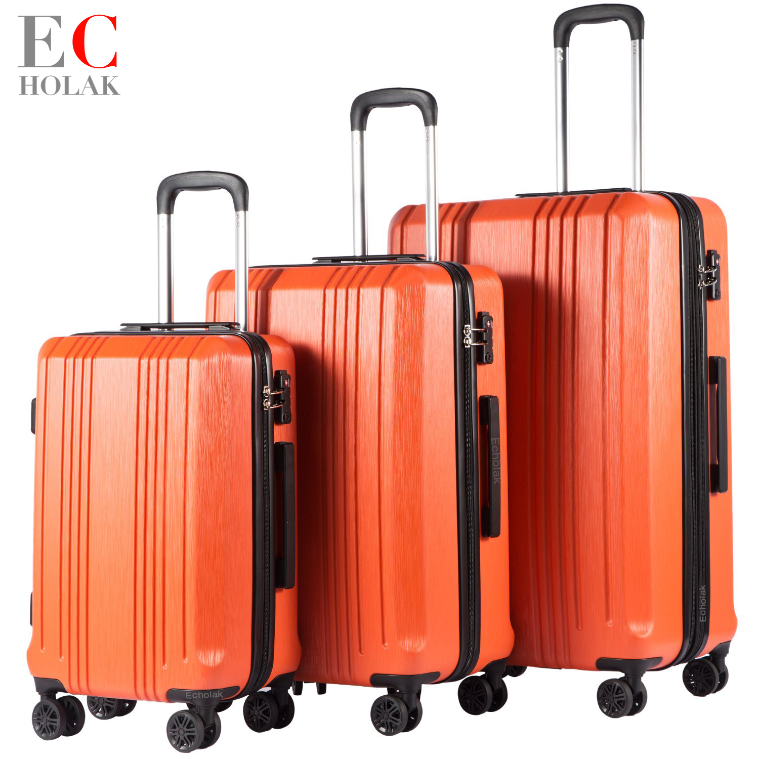 827dbbe2753d US $64.79 46% OFF|3 Piece Set Travel Tolley Case Luggage Suitcase Spinner  Mute Wheels Rolling Luggage women men 20 24 28inch-in Hardside Luggage from  ...