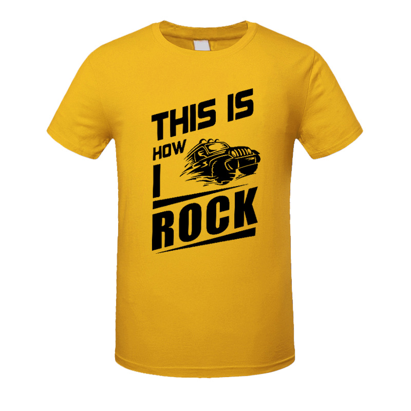 This Is How I Rock Car Printed T Shirts Cotton Casual Short Sleeves T-shirts Men Loose Clothes Tops Tee Plus Size