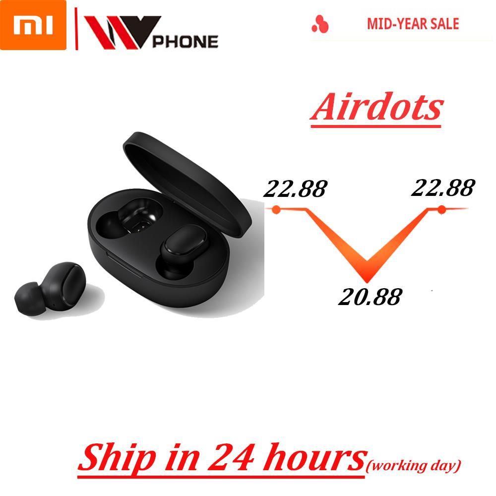 Airdots Xiaomi Redmi Airdots TWS auriculares inalámbricos control de voz Bluetooth 5,0 reducción de ruido Control de grifo