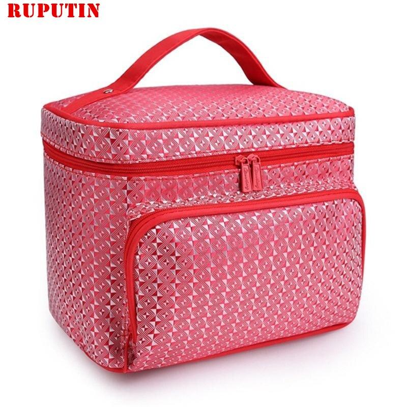 RUPUTIN Women's Waterproof Cosmetic Bag Folding Travel Makeup Organizer Bag Cosmetic Make-up Bags Make Up Brushes Case Wash Bags