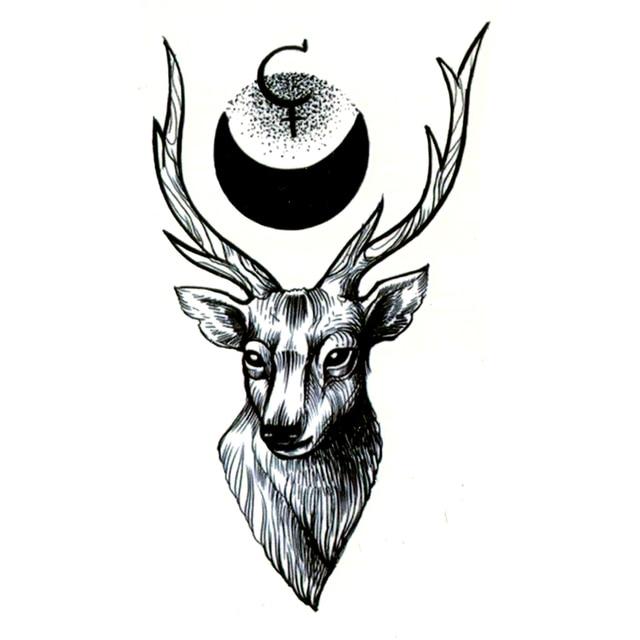 30pcs peace deer waterproof temporary tattoo sticker maquiagem animal totem the flash fake tattoo body art