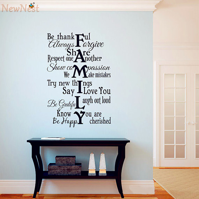 Family Rules Wall Art aliexpress : buy 2016 new design family rules wall decal vinyl