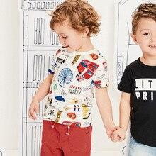 Children's short-sleeve T-shirt for Boy 2-7 years Teens childish cotton Character