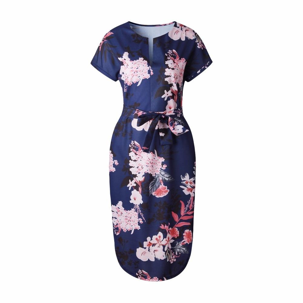 OMCHION Plus μέγεθος 2018 καλοκαιρινό φόρεμα - Γυναικείος ρουχισμός - Φωτογραφία 5