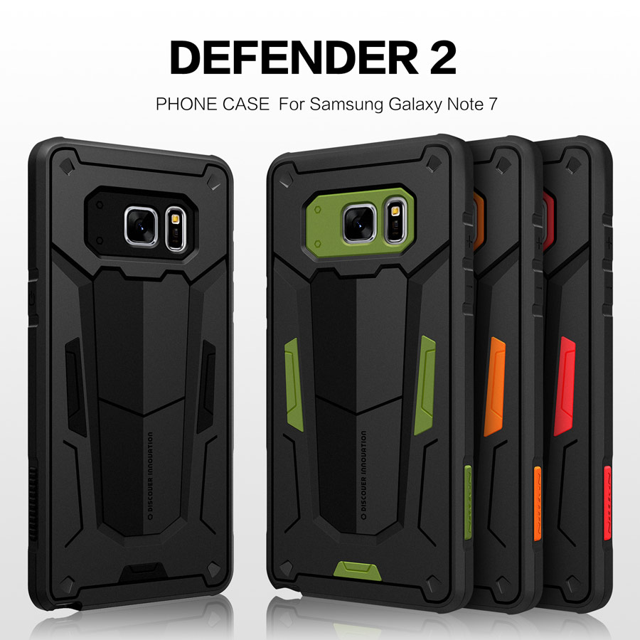 for Samsung galaxy Note 7 case Nillkin Defender 2 Luxury Note 7 TPU+PC Armor Phone Back Cover For Samsung Note7 Case Shell