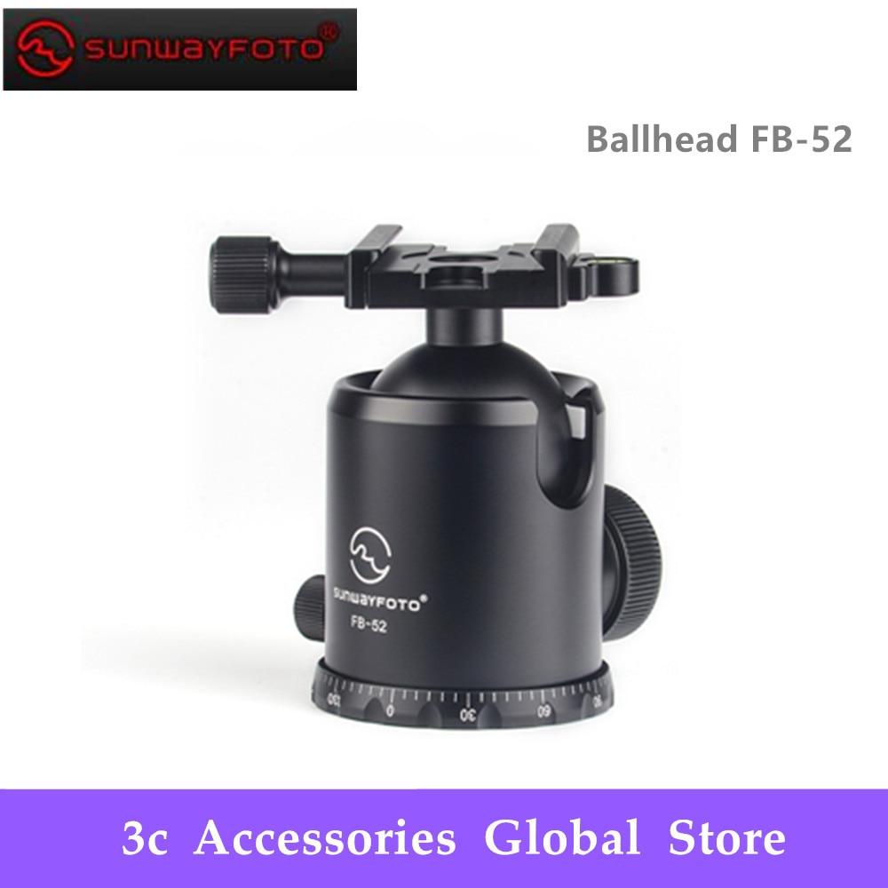 SUNWAYFOTO FB 52 Ballhead Clamp Type:Screw knob Clamp Ball Diameter:52mm Max Load:20KG Max Load:20KG-in Tripod Heads from Consumer Electronics    1