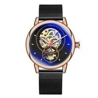 MG.ORKINA Watch fashion new men's royal classic Roman mechanical watch mesh with automatic mechanical watch