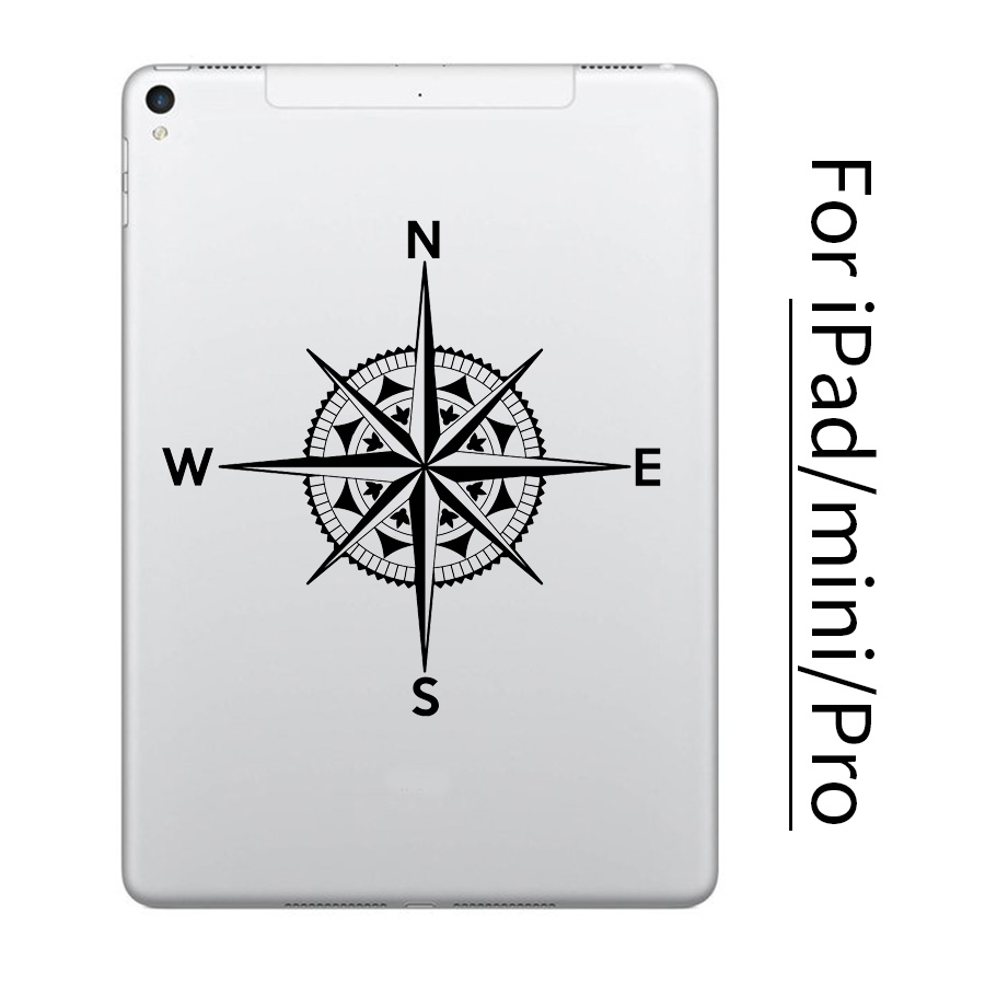 NEW Vintage Compass Tablet PC Sticker for font b Apple b font iPad Decal Air Pro