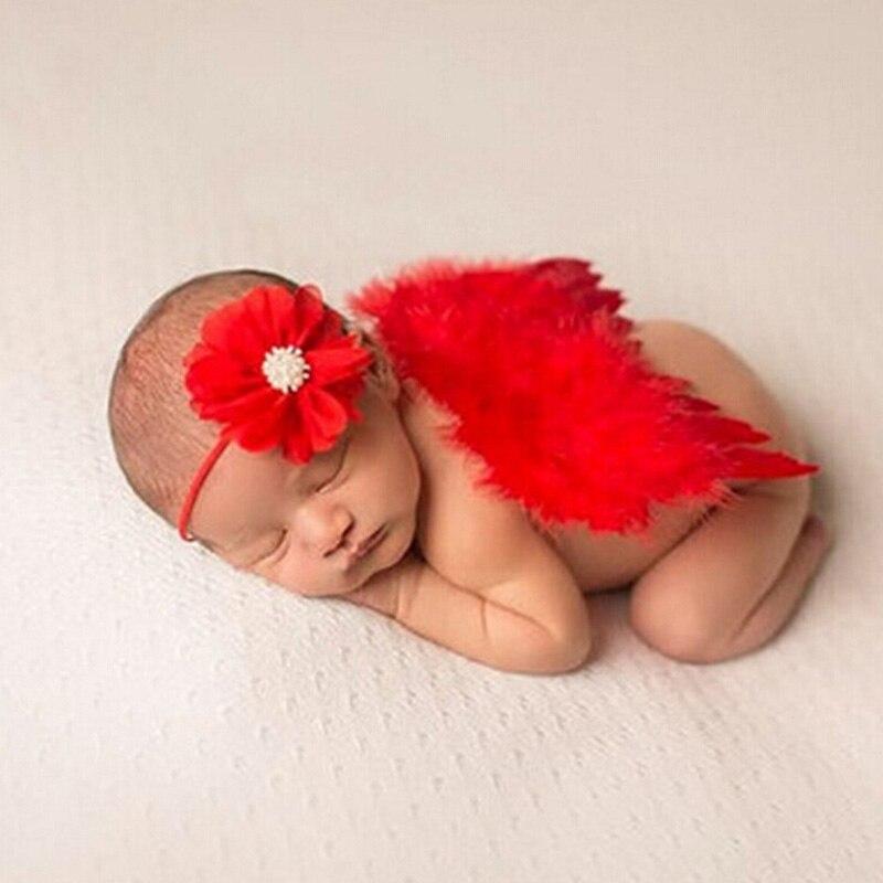 1 Satz Kinder Und Babys Neue Bogen Mit Angel Wings Baby Haarbänder Jungen Mädchen Haar Tragen Zubehör 8zaa555