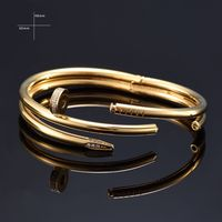 With Store 2017 Trendy Screw Nail Love Bracelet Gifts For Women 316L Stainless Steel Fashion Men