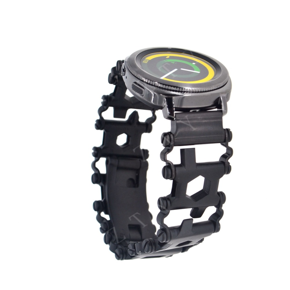 Leatherman Band Garmin Vivoactive 3, Leatherman Bracelet Stainless Watch Adapter for For Samsung Gear S3 /GearS2 Classic Leatherman Band Garmin Vivoactive 3, Leatherman Bracelet Stainless Watch Adapter for For Samsung Gear S3 /GearS2 Classic