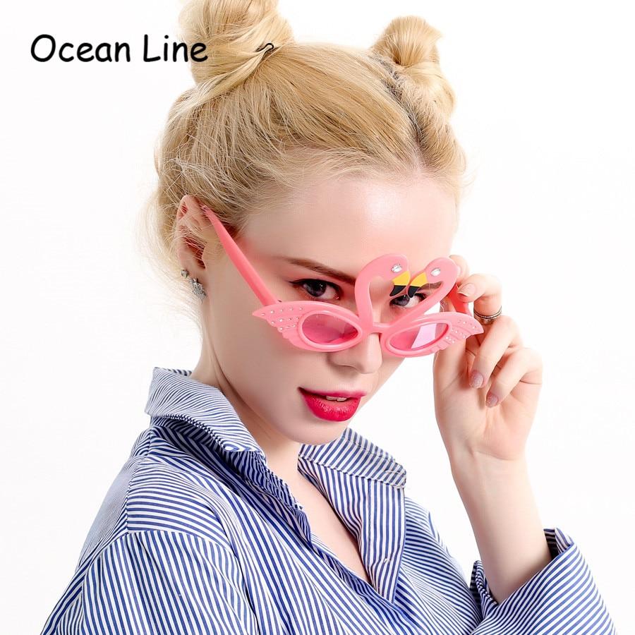 재미 있은 핑크 홍학 장식품 의상 안경 참신 플라밍고 생일 호의 축제 파티 용품 장식 액세서리