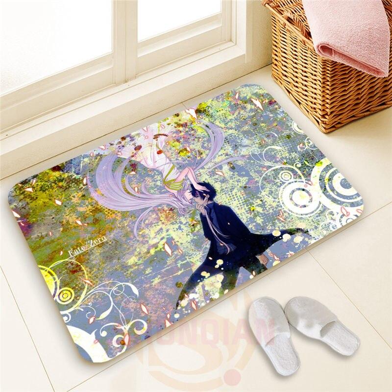 Personality design Custom Fate Zero#17 Doormat 100% Polyester Home decor Floor Mat Bath Mats#1103@29