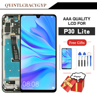 Original screen For Huawei P30 lite LCD With Frame Display Touch Screen Digitizer For HUAWEI NOVA 4E LCD Display MAR LX1 LX2