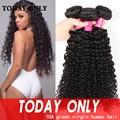 Malaysian Virgin Hair Kinky Curly Virgin Hair Bundle Deals Deep Curly Weave Human Hair 10A grade Virgin Malaysian Curly Hair