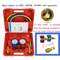 R410,R22,R134A refrigerant filling tool. Pressure gauge for refrigerant filling in household air conditioner and refrigerator