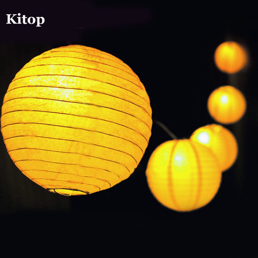 Kitop Outdoor Fairy Lantern Solar String Lights 5M 20 leds 6M 30leds Christmas Globe Lights for