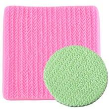 Sweater tecido tricô textura biscoitos em relevo almofada decoração do laço esteira ferramenta moldes de silicone fondant decoração do bolo