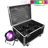 LED Par C0B 200W With Flightcase RGBWA 6IN1 Lighting LED Par Can Dmx Controll Christmas Decorations Professional For Club DJ