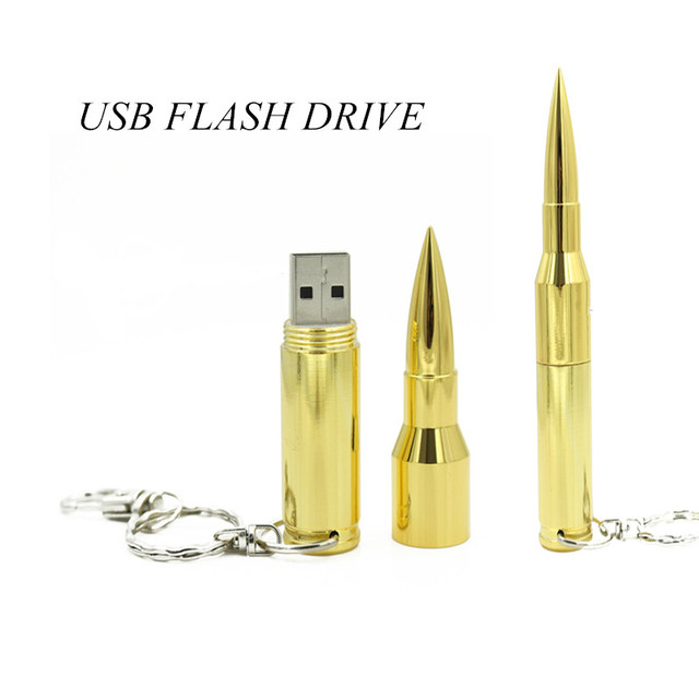 2014new Silver 8GB 16GB 32GB 64GB Flash Memory Pen Drive USB 2.0 Flash Drives Sticks Pendrives the bullet U Disk  Free shipping