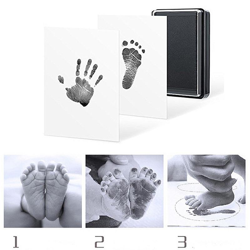 Baby Handprint Footprint Mold Pad Safe Easy To Clean No Mess Non-Toxic Ink Newborn Photo Hand Foot Print Pad Keepsake