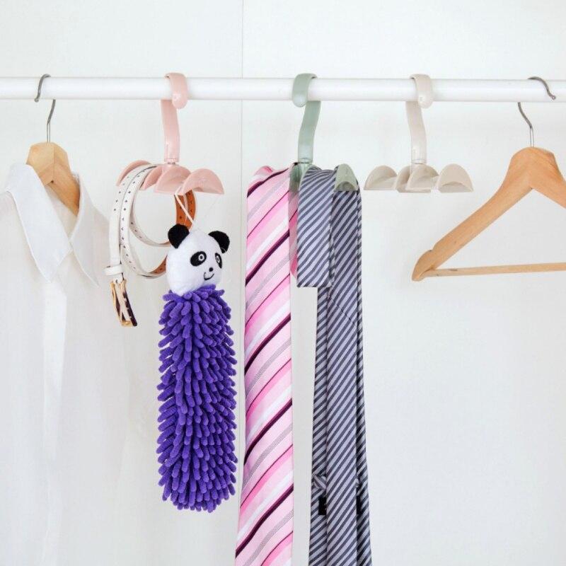 Bathroom Hardware Ingenious New 360-degree Rotation Closet Organizer Rod Hanger Handbag Storage Purse Hanging Rack Holder Hook Bag Clothing Hanger
