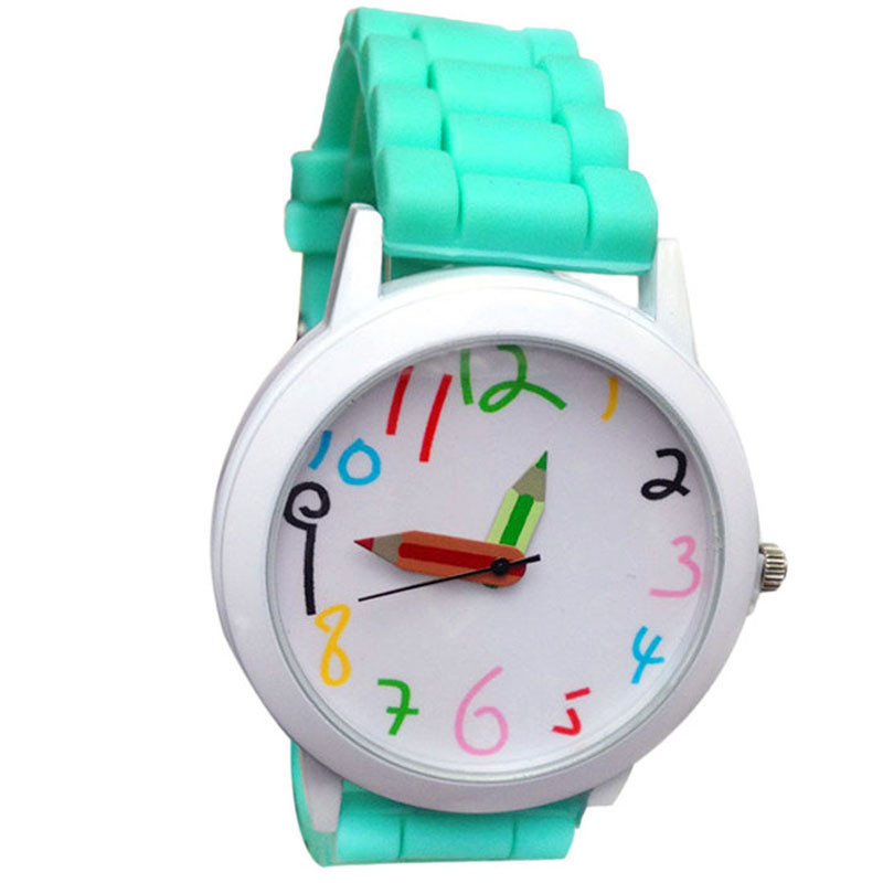 Lover's watches Woman Fashion Quartz Unisex Boys and Girl's Beautiful Students All-Match clock sports casual simple silicone A80