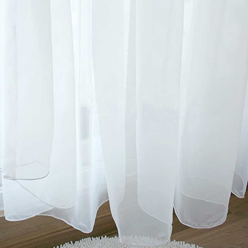 organza sheer voile curtains window curtains for living room luxury tulle curtains solid white curtains for