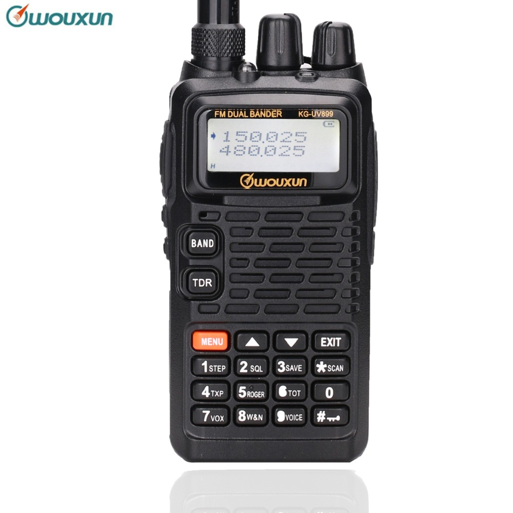 WOUXUN KG UV899 Dual Band 136 174MHz & 400 520MHz 1700mAh Battery Handheld FM transceiver VOX KGUVD1P Protable Walkie Talkie