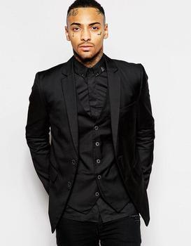 Handsome Two Button Black Groom Tuxedos Groomsmen Men's Wedding Prom Suits Bridegroom (Jacket+Pants+Vest+Tie) K:815