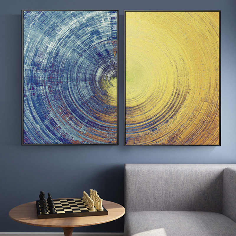 Aliexpress Com Buy Abstract Blue And Yellow Circles
