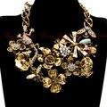 Cadena de oro Blanco Rhinestone de La Perla Declaración Colorized Granos de La Gota de Aceite Feliz Halloween Clásico Collar De Insectos