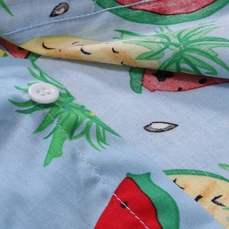 Стильная рубашка с принтом арбуза для мужчин 2019, новая брендовая дизайнерская мужская рубашка с фруктовым узором, вечерние рубашки для отдыха, мужские рубашки