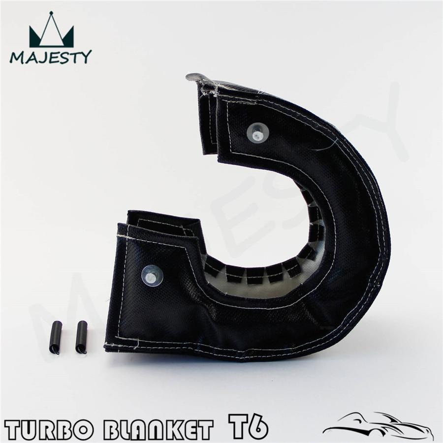 T6 Turbo Blanket Turbine Heat Shield Cover Diesel Turbocharger Wrap BLACK USA