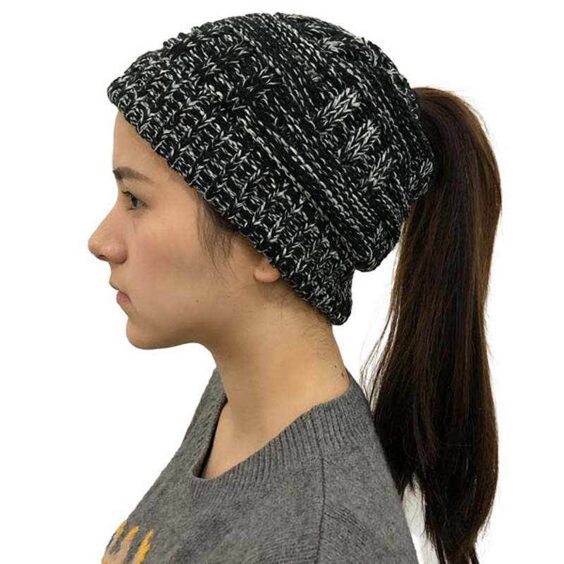 XEONGKVI Europe America Adult Bamboo Weaving Horsetail Knitted Caps Autumn Winter Brand   Skullies     Beanies   Hats For Women Girl