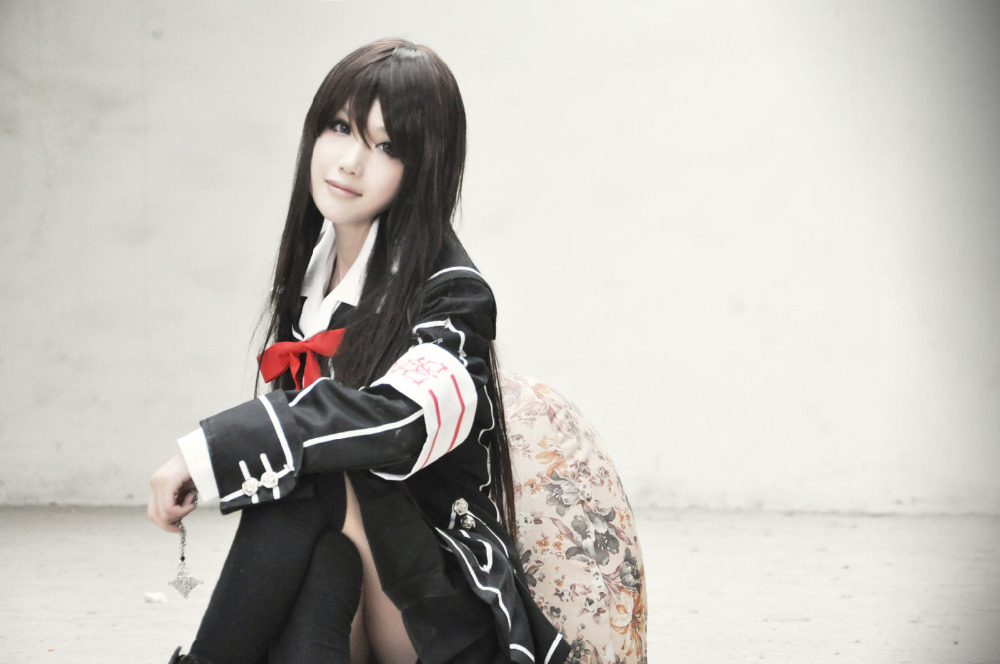 Anime Vampire Knight Kuran Yuki Cosplay Costume Black White Uniform