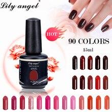 Professional Led UV Soak Off  Makeup Neon Colorful Nail Gel Polish 90 Colors Lacquer Art Long Lasting Liquid 1-31