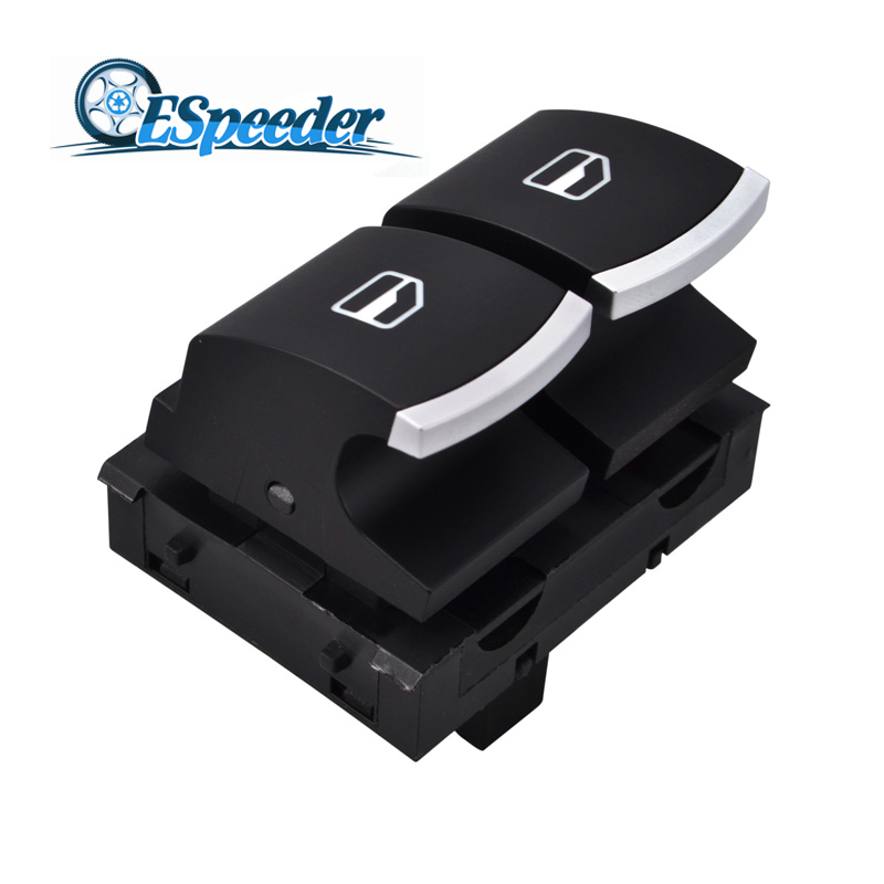 ESPEEDER 5K3959857 4 Pins ABS Front Driver Side Electric Power Window Switch For <font><b>VW</b></font>/Passat/Caddy/EOS/<font><b>Golf</b></font>/Touran/<font><b>GTI</b></font> image