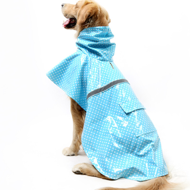 New Pet Dog Raincoat Clothes Labrador Golden Retriever Large Medium Dog Waterproof Snow Dog Pitbull Schnauzer Raincoat Supplies
