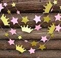 Rosa de Oro de La Corona Estrella Garalnd Princesa Es un Chica Bandera Del Partido Primero Cumpleaños Decoración de Cumpleaños o regalos de Baby Shower, Ducha nupcial Decoración