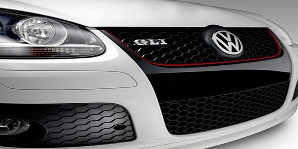 цена на MONTFORD For Volkswagen Golf MK5 GTI 2005 2006 2007 ABS Black Front Center Racing Grill Mesh Grille Decoration Cover Trims