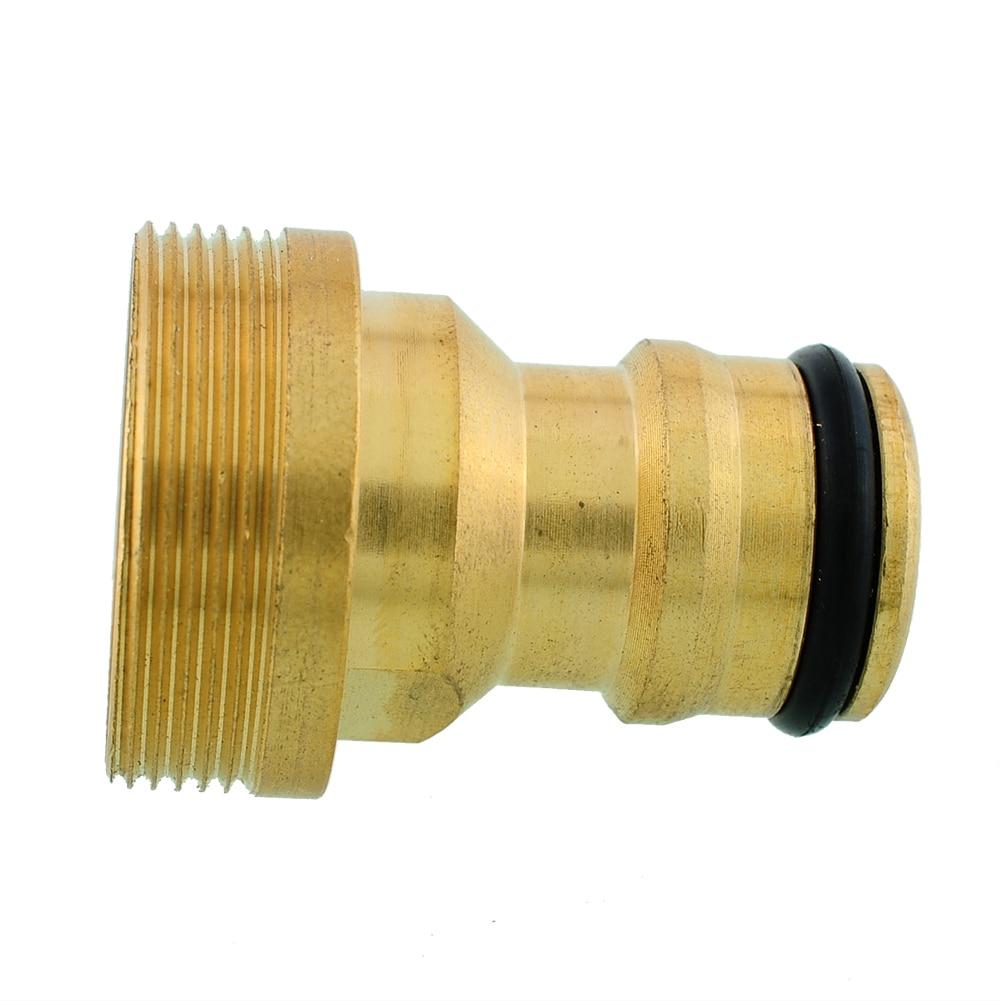 Горячий твердый латунный резьбовой шланг водопровод соединитель труба Кран Кнопка адаптер установки Сад Открытый