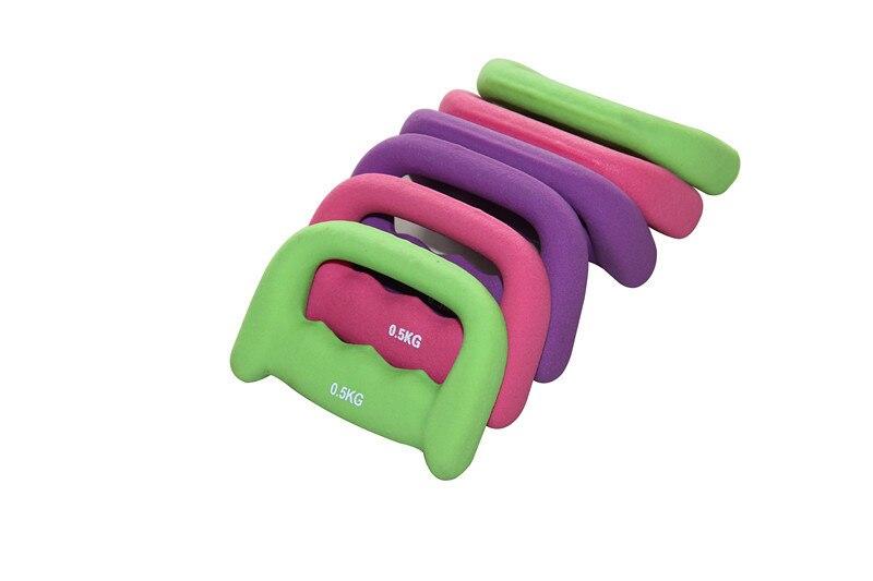 3 cores 2 pcs/par 1 kg halteres andando haltere haltere criança emagrecimento perda de peso das mulheres para atacado e freeshipping