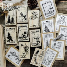 Vintage Nature notes series wooden rubber stamps for scrapbooking stationery DIY stamp