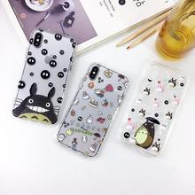 Cartoon Tonari no Totoro Cute Phone Case Soft Cover For iPhone 6 6s 7 8 Plus X XS XR XSMax